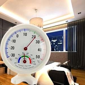 Masrin ronde intérieur extérieur Thermomètre hygromètre humidité Température Mètre Jauge