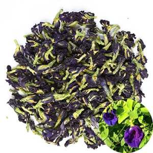 TooGet Dried Pure Butterfly Pea Flowers, Natural Clitoria ternatea Herbals Blue Tea Wholesale, Top Grade – 60g
