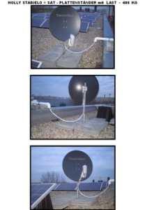 Bretelles courbes, spécial-toit-sATELITEN installations sTABIELO pLATTENSTÄNDER support-pour 40 x 40 cm plaques pour tubes d'un diamètre de 80 mm-acier – 4 schrägrahmen et 80 mm µ revêtement feuerverzinkung-fabriqué dans le bade-wurtemberg-holly ® produits sTABIELO ® holly– sunshade ®-livraison de plaques sans comprise dans le prix d'un (69 eUR) –