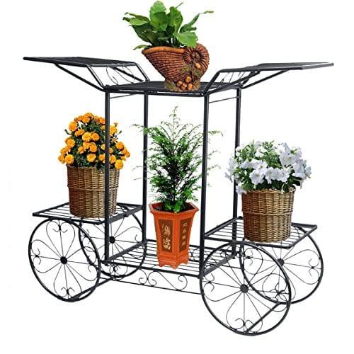 tag re de pots de fleurs plantes chariot avec 6. Black Bedroom Furniture Sets. Home Design Ideas