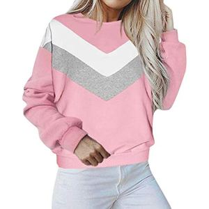 Heecaka Pull Patchwork Casual Femmes Manches Longues O Neck Sweat Tops
