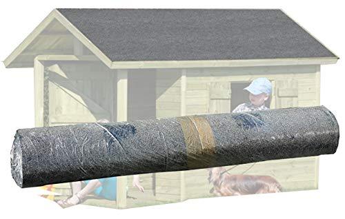 Rouleau de 7 5 m de carton bitum noir de gartenpirat - Rouleau de bitume pour abri de jardin ...