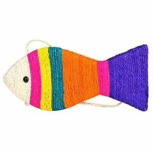 Tocoss (TM) Pet Cat Funny Toys Cat Scratch Toy Cat Sisal Jouets Scratching Post Styles Poisson