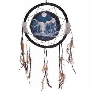 Attrape-Rêves Loups Blancs Clair de Lune (33 cm)