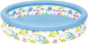 Bestway – Piscine gonflable ronde pour enfant Ocean Life, diamètre 122 cm, hauteur 25 cm