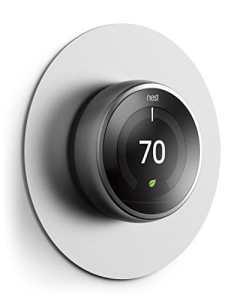 Elago Couvercle de plaque murale pour thermostat d'apprentissage de nid Argent