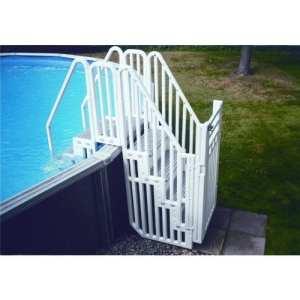 Ensemble double escalier résine intérieur et extérieur + protection