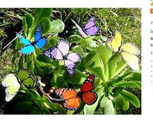 Hilaï coloré Jardin Papillons sur bâtons X10