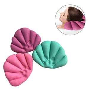 Rosenice Oreiller de bain Oreiller Spa gonflable avec ventouses pour baignoire de salle de bain (couleur aléatoire)