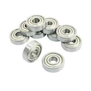 Scelle de roulements rigides a billes – SODIAL(R) 10 Pcs 6200Z 10 x 30 x 9 mm simple rangee Scelle de roulements rigides a billes
