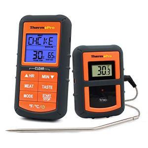 ThermoPro TP-07 Thermomètre de Cuisson Digital pour BBQ, Fumoir, Four avec minuterie