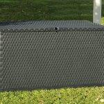 Toomax Coffre à coussins – Malle de rangement 420 L, Rattan Polypropylène Anthracite – ART162A