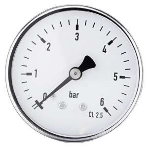 0-6 bar 1/4″ NPT filetage Manomètre de pression pour Eau Liquide Carburant Huile Air, Manomètre de haute précision
