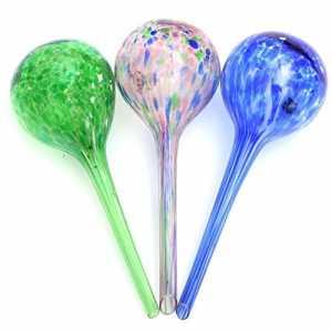 3 boules d'arrosage autonomes pour plantesAsentechUK® – En verre – Goutte à goutte (couleur aléatoire)