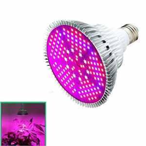 AOLVO LED Ampoule de Croissance 100W, Full Spectrum Lampe Plante pour Plantes en intérieur hydroponie Serre Jardinage Légumes et Fleurs, 150pcs 2835Lampe de Serre Chips Base E27AC 85~ 265V