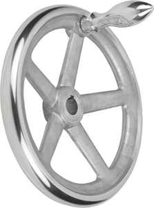 Bascule main Roue avec écrou en aluminium, Komp: Aluminium, D2= 18, D1= 200, 1pièce, k0160.5200x 18