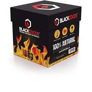 Blackcoco's® Charbon naturel Premium à base de noix de coco pour narguilé & barbecue. Boîte de 1kg