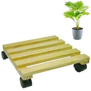 Bois ob-0527Plante Roller Pot de plante Chariot Fleur Décoration Salon