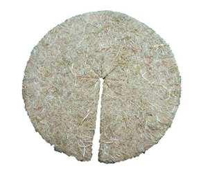 Disque de paillage en fibres de chanvre, mulch-disk, 100 pièces, diamètre : 60 cm, 5 mm d'épaisseur, tapis de protection des plantes, tapis de protection contre les mauvaises herbes, tapis de protection pour l'hiver, 100 % biodégradable, fabriqué à partir d'une matière première renouvelable, écologique et locale, convient aux parterres et pots de fleurs