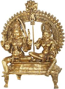 Exotic India Large Size Shiva Family (Shiva Parivar) – Brass Statue