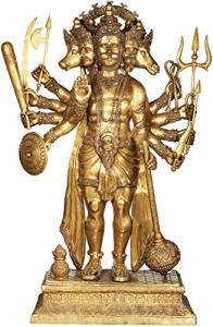 Exotic India Super Large Panchamukha Hanuman – Brass Statue