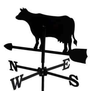 Girouette Vache en fer forgé petit modèle