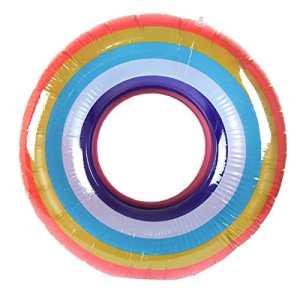 ❤️LILICAT Hot Piscine Gonflable Arc-en-Ciel Anneau de Bain Adulte Fruits Anneau de Bain Arc-en-Ciel Anneau de Bain Gonflable bouée de Sauvetage (A)