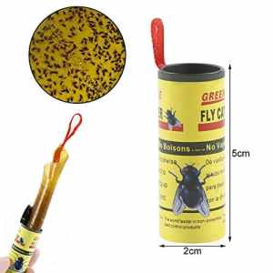 oobest Sticky Fly Bandes de Papier Fly Catcher Piège à Mouches Non Toxique jetable Rubans Flying Plante Insect Control 1pcs Fly Sticky Paper Yellow1