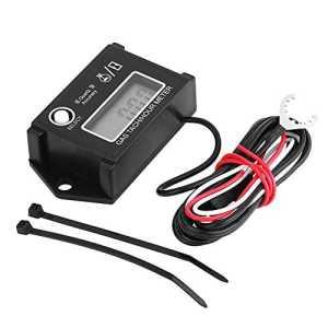 Qiilu Compte-tours tachymètre, Compteur horaire numérique tachymétrique pour 2/4 Stroke Engine Motorcycle