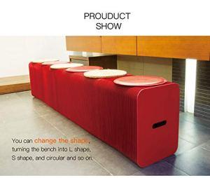 smartlife Home Meuble softeating Design Moderne en Feuilles Pliantes pour 6 Personnes avec 6 espaces limité Rouge