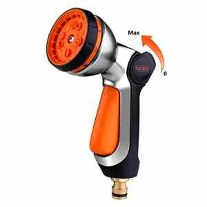 TACKLIFE Pistolet d'arrosage,10 Modèles de Pulvérisation Pistolet Multifonctionnel en Métal, Commutateur à Une Main sans Fatigue, Arrosage pour Voiture/Jardin/Animal Domestique GSG1A