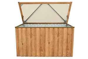 Tepro Boîte Appareil de Box Coussin en métal Armoire de Jardin 770l Coffre dans Jardin de Chêne Aspect Bois