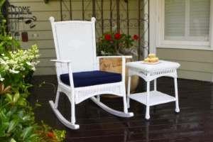 Tortuga Outdoor Garden Patio Portside Classique à Bascule–Blanc