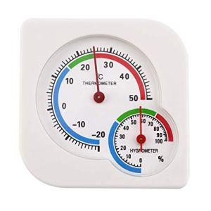 Triamisucake Classique Homeuse Intérieur Extérieur 2 en 1 Mini Précision Humide Hygromètre Humidité Thermomètre Thermomètre Température Mètre Mécanique