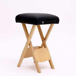 zxqz Tabouret Pliable en Bois Massif/Tabouret de Massage de cosmetología/Tabouret de Studio/Chaussure de Chaussure d'entrée (33* 56cm) Tabouret de Stockage Noir