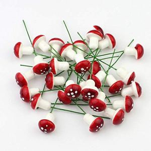 10 Mini Mousse Jardin De Champignons Rouges Miniature En Pot Succulente Bonsaï Artisanale