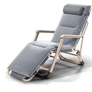 Chaise Unique Pause Déjeuner Chaise Bureau Chaise Pliante Lit Pliant Lit Pliant Sieste Chaise Chaise De Plage 178x65x80cm Capacité De Charge 200 Kg (Couleur : Gray)