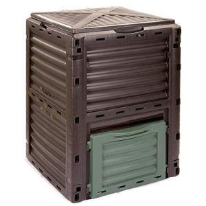 COMPOSTEUR DE JARDIN Kompo de 4smile – fabriqué en Europe ǀ 300l poubelle à composte écologique ǀ COMPOSTEUR THERMIQUE sans fond pour les déchets organiques ǀ couleur : anthracite et vert