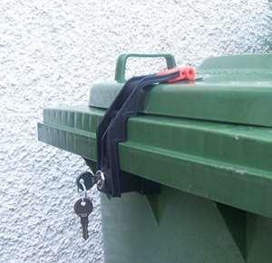 CTS Cadenas pour poubelle conteneur de 60 à 360 l + clés individuelles