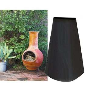 extérieur Grande Cheminée de jardin Réchaud écran anti-poussière étanche–Noir