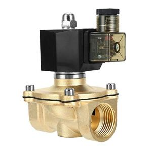 FGHGFCFFGH 1 inch AC220V DC24V Normally Closed Type Water Solenoid Valve Inlet Magnetic Valve Square Coil Pure Copper Coil
