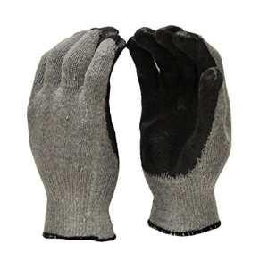 GF Gants 3108–300Grande taille unique trempée en latex nitrile revêtu Cordes Knit Palm Gants de travail en économique de qualité–Noir (300Paire)