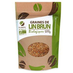 Graines de Lin Brun BIO – 500g (Linum usitatissimum)