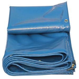 GRPBZ Tapis de Sol Bleu en bâche, Tapis de Tente extérieur 450g / mètre carré de Tente de Jardin de Jardin de Tente de Protection Solaire imperméable à l'eau de Protection Solaire (Taille : 6x8m)