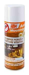 HBM Recharge Pyrèthre Naturel pour Diffuseur Pergola Automatique 250 ml