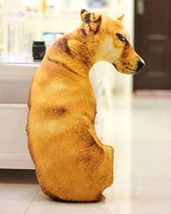 Kldstar Jouet en Peluche pour Chien en Peluche Motif Chien, Yellow Dog, 40 cm