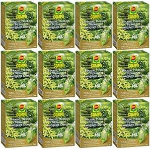Laurier Cour® Set économique: 12x Compo arbres, taille-haie, arbustes Engrais de longue durée, 2kg + Gratuit Cour Flyer Laurier