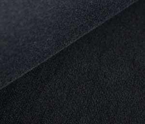 Mira Bleu Design Plastique Vente Bio Jersey schlauchbünd Chen GOTS Noir uni (21–016M), 0,3m