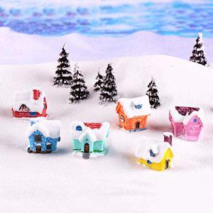 Sanwoodd Jardin Féérique Miniature Mini Candy House Ornement Dollhouse Pot de Fleurs Figurine DIY extérieur Décor Décoration de la Maison