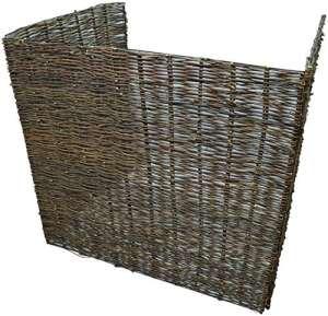 Woodside – Cache-poubelle en saule – pour poubelles à roulettes ou fixes – Double